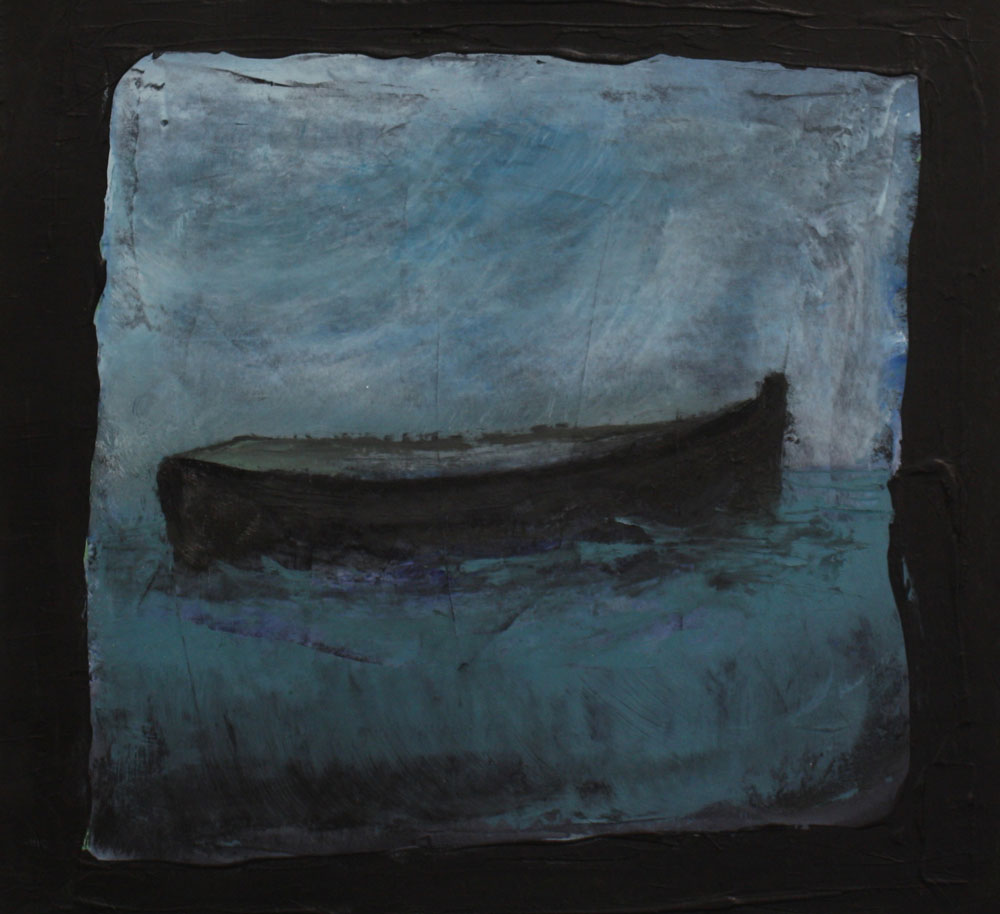 Boat I 26 X 26 cms Oil On Paper Sold
