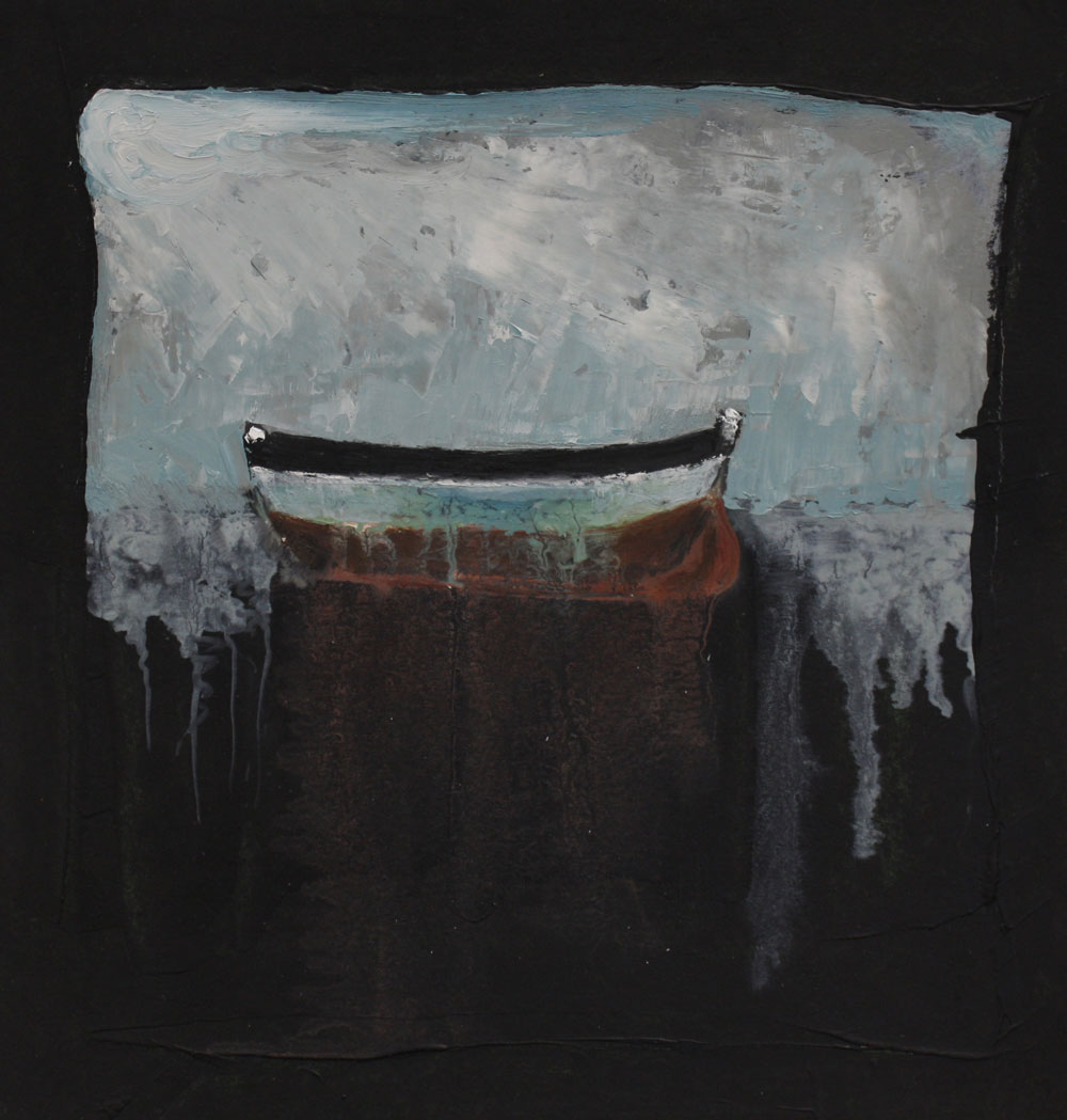 Boat II 26 X 26 cms Oil On Paper Sold