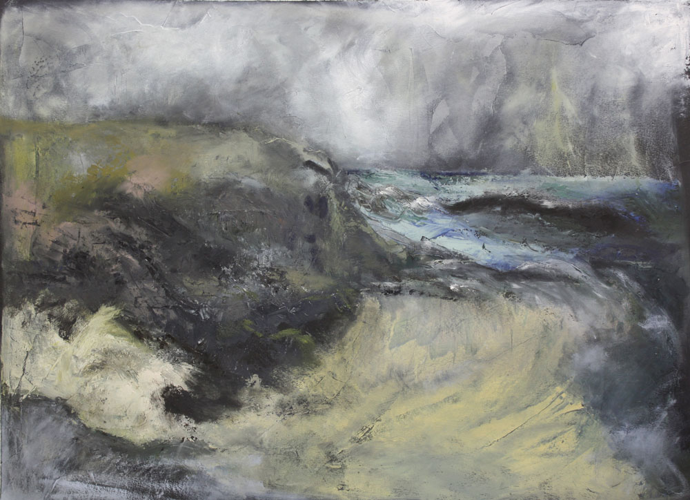 Storm Dreaming 53 X 72 cms Oil On Paper Sold