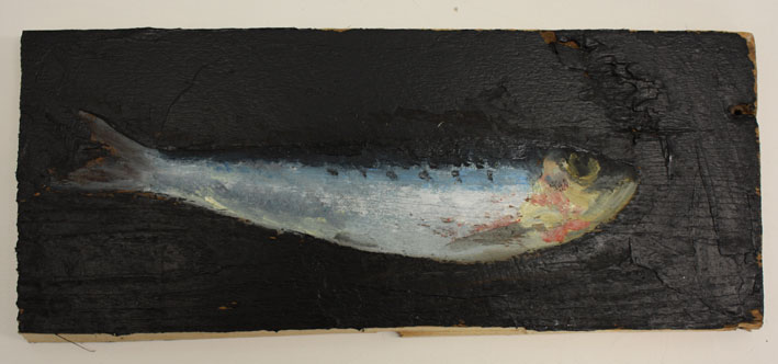Little Fish 10 x 26 Cms Oil On Wood Panel £100