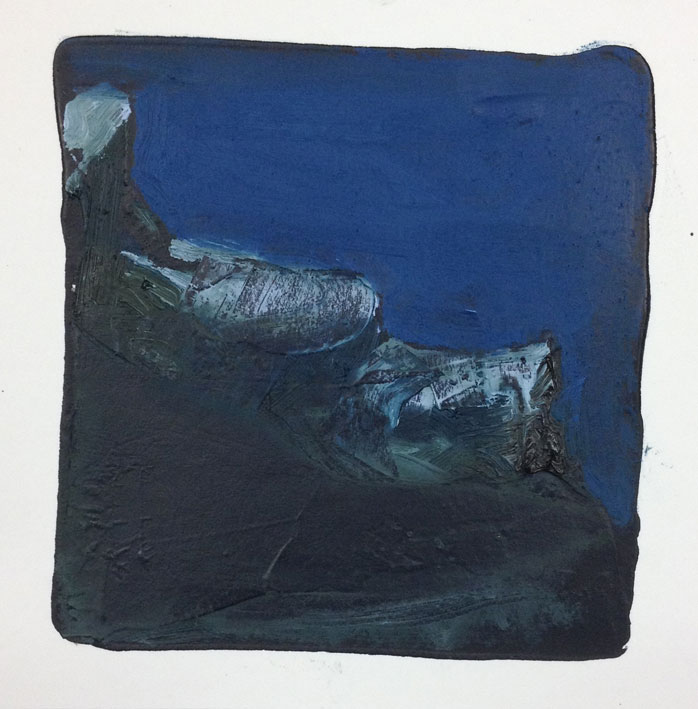 Where Land Meets Sea Dreaming II 14 x 14 cms Oil On Card £60