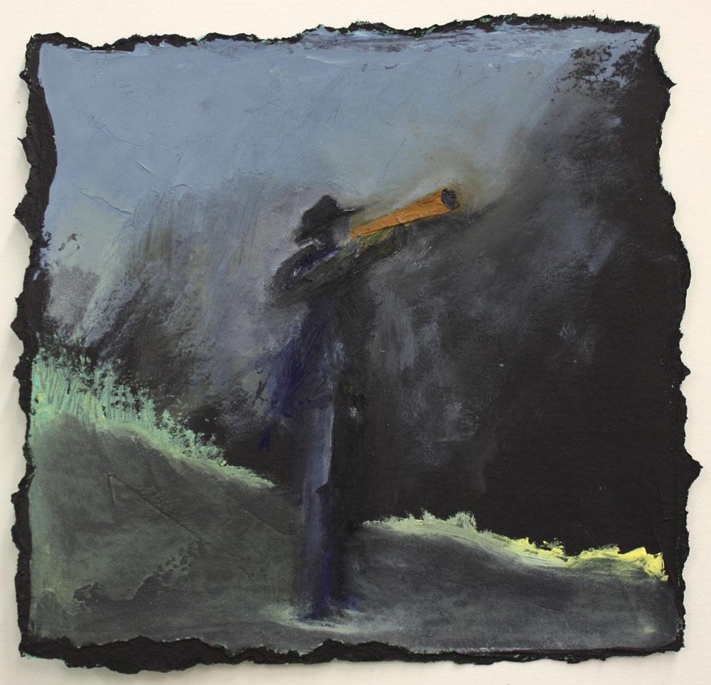 Hevva Hevva 26 X 26 cms Oil On Paper Sold