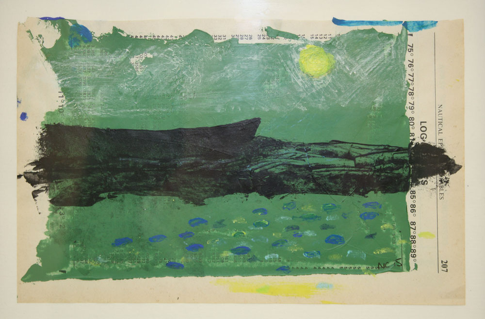 Black Boat/Drawing 15 X 21 cms Gouache On Paper £50