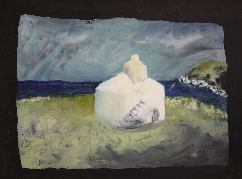 The Huers Hut 54 X 72 cms Oil On Paper Sold