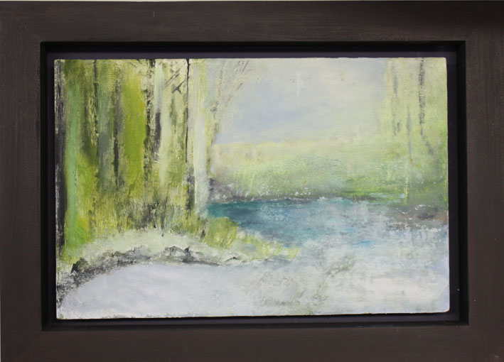 At The Pond 22 x 34 cms Oil On Wood Panel £300