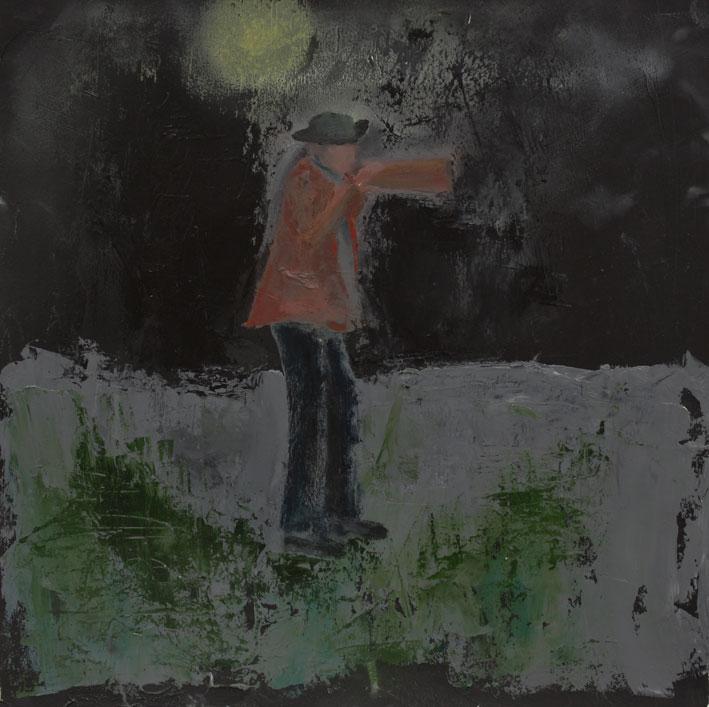 Hevva Hevva 28 x 28cms Oil On Paper £300
