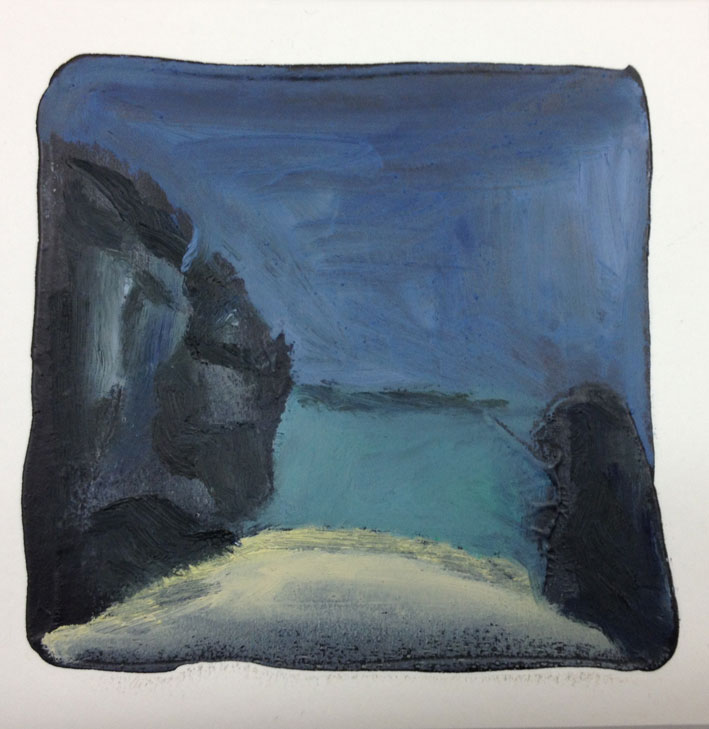 Low Tide 14 x 14 cms Oil On Card £60