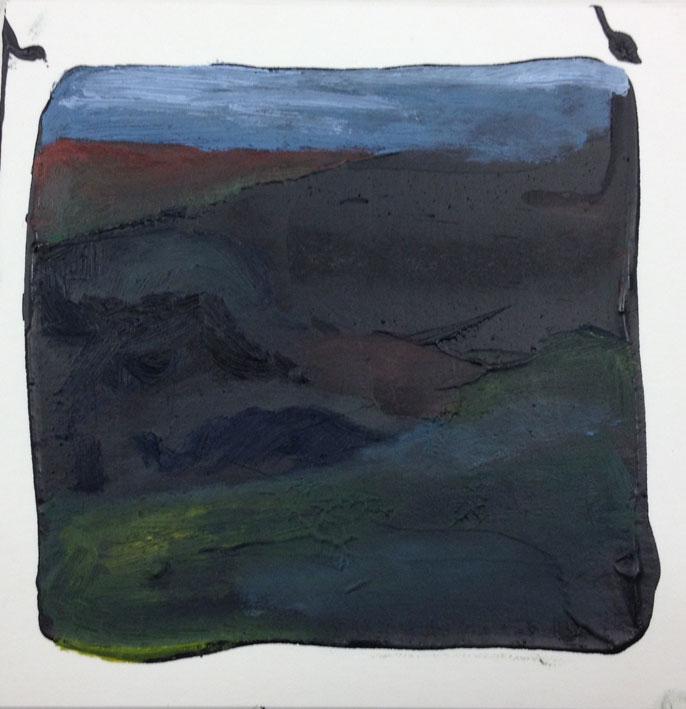Moorland Heather 14 x 14 cms Oil On Card £60