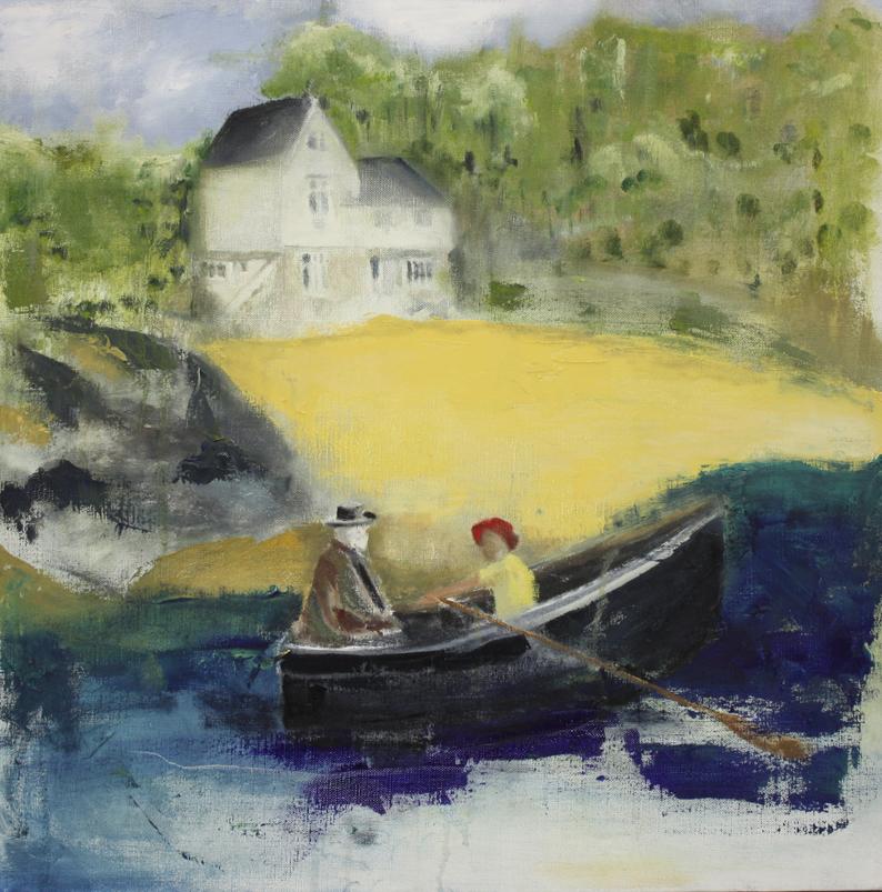 Summer Days 50 x 50 cms Oil On Canvas £650
