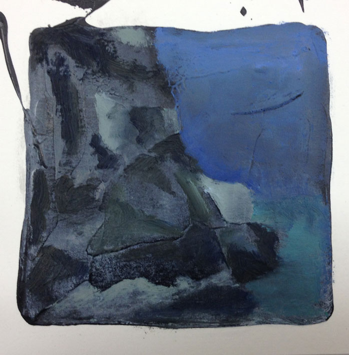 Where Land Meets Sea Dreaming I 14 x 14 cms Oil On Card £60