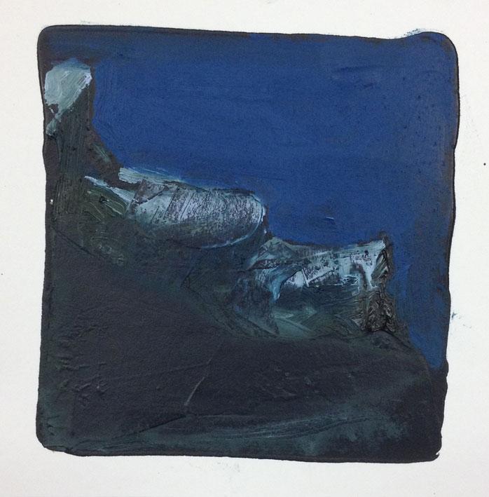 Where Land Meets Sea Dreaming II 14 x 14 cms Oil On Card £60