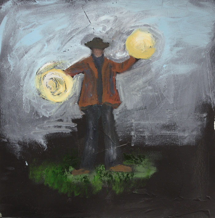 Wind Away Warp 28 x 28cms Oil On Paper £300